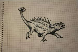 Christine's Dinosaur Drawing