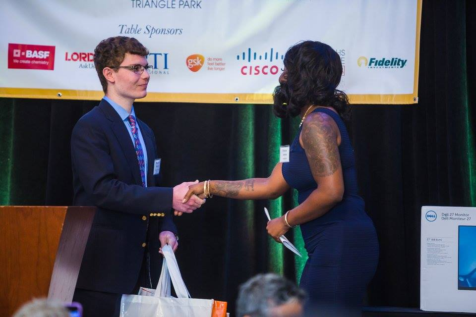 RTPi3 Essay Contest Winner Benjamin Warlick accepts his prize package