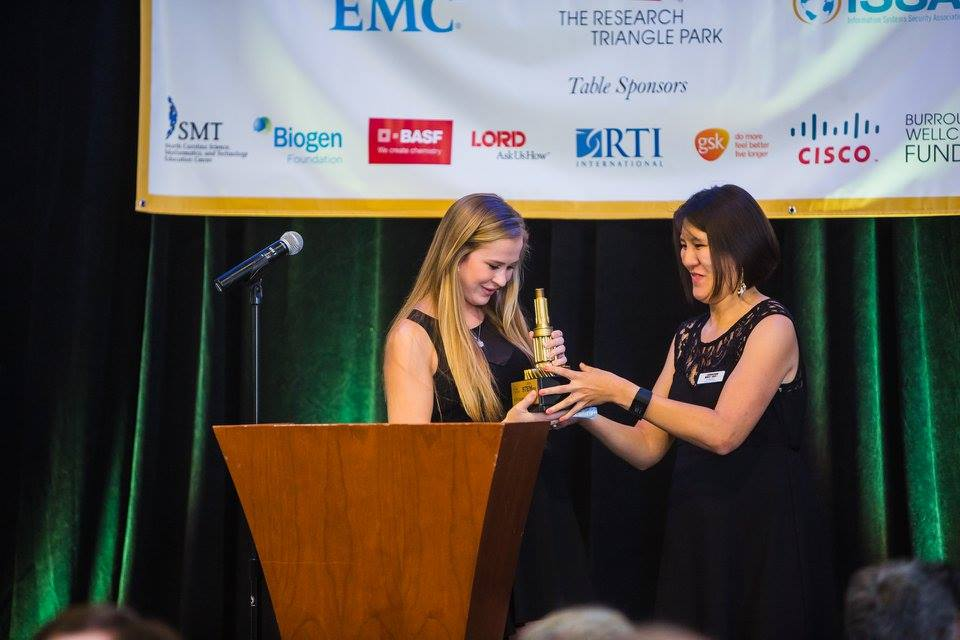 Student of the Year, 9-16 Joanna McDonald accepts her STEMmy
