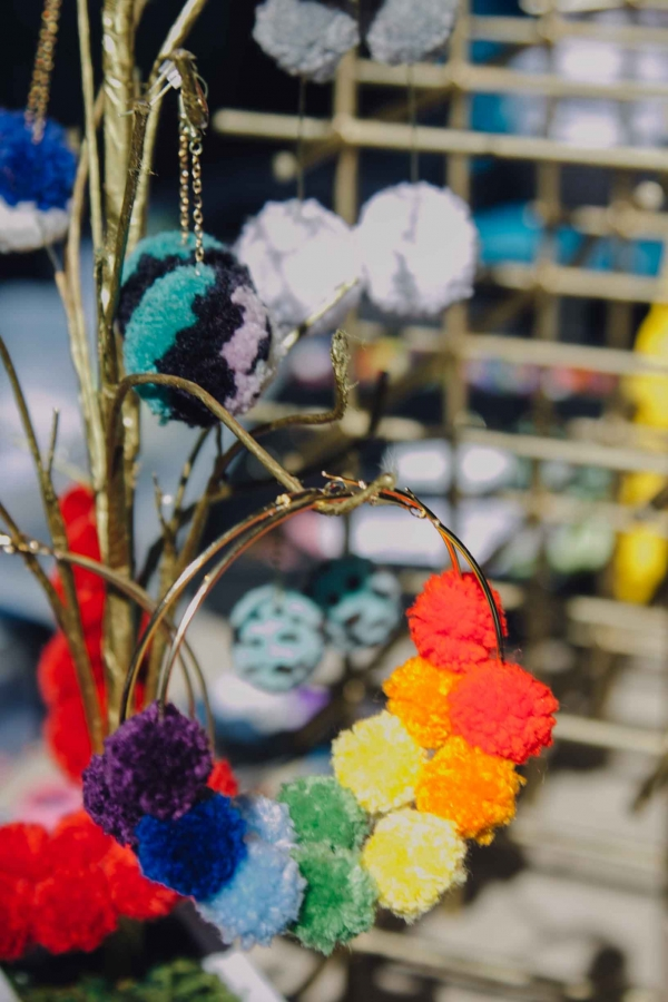 makers market crafted 2019 earrings pom pom