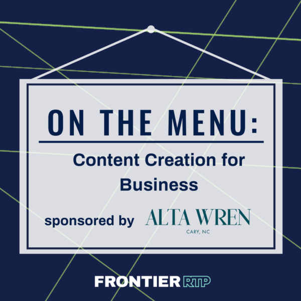 On the Menu: Content Creation Graphic with sponsor logo