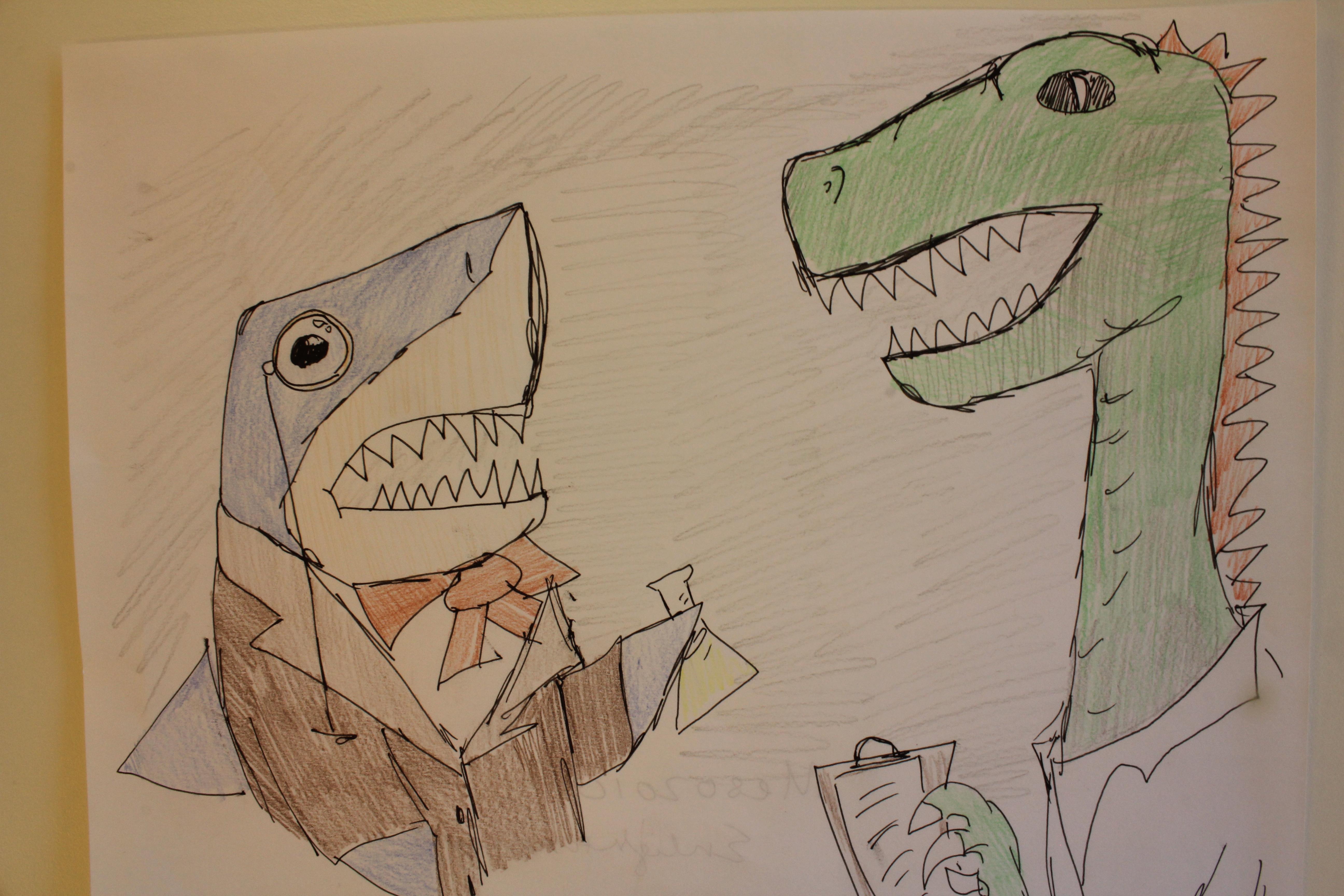 Kelsie's Dino and Shark