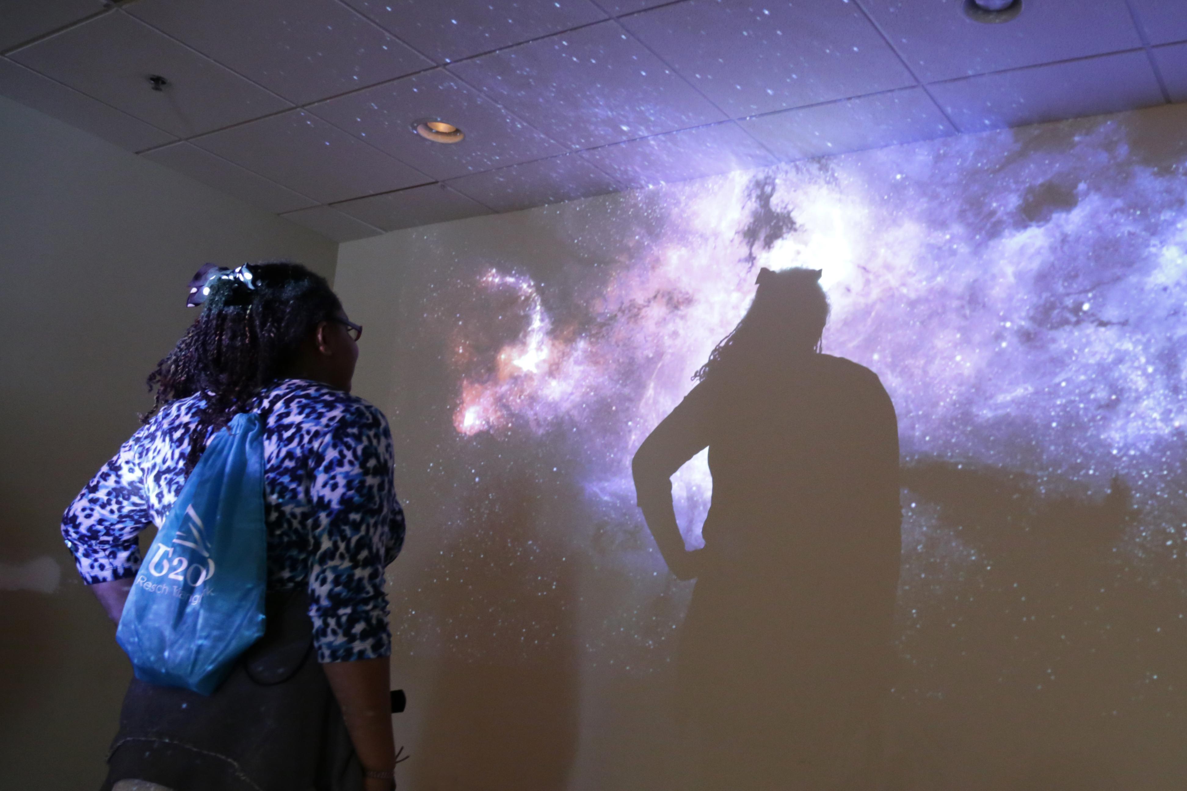 Student at the Feedback Galaxy Room