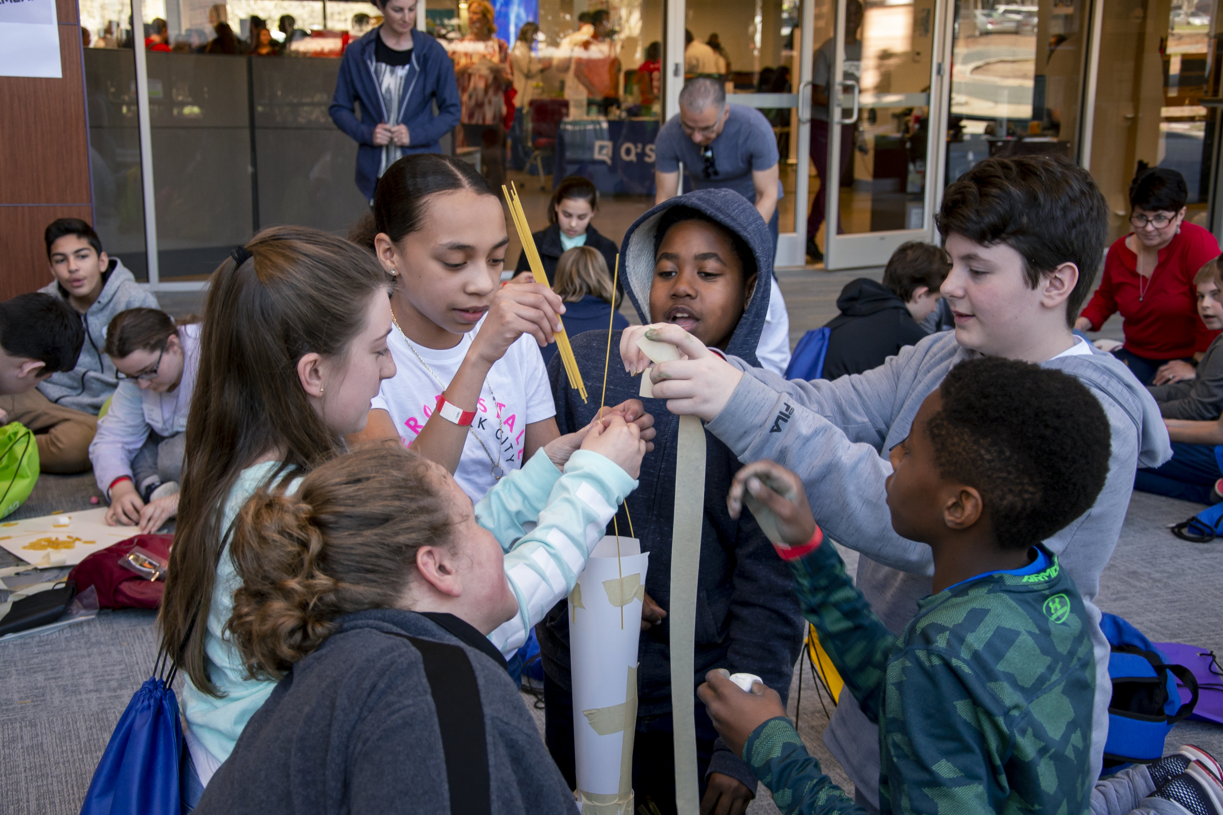 students at a stem fair in rtp